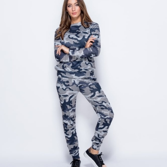 f12a41833d28 Parisian Pants | Sale Nwt Camouflage Joggers Two Piece Set | Poshmark